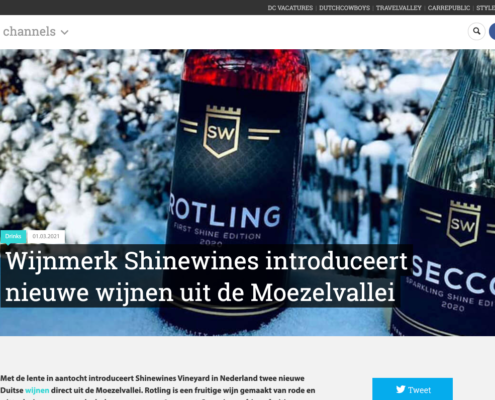 EATLY.nl pers item omtrent SHINEWINES ROTLING en SECCO