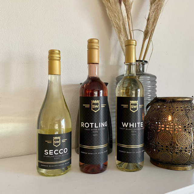 Shinewines ROTLING, SECCO, WHITE PINOT BLANC lekkere wijnen voor thuis of in het restaurant