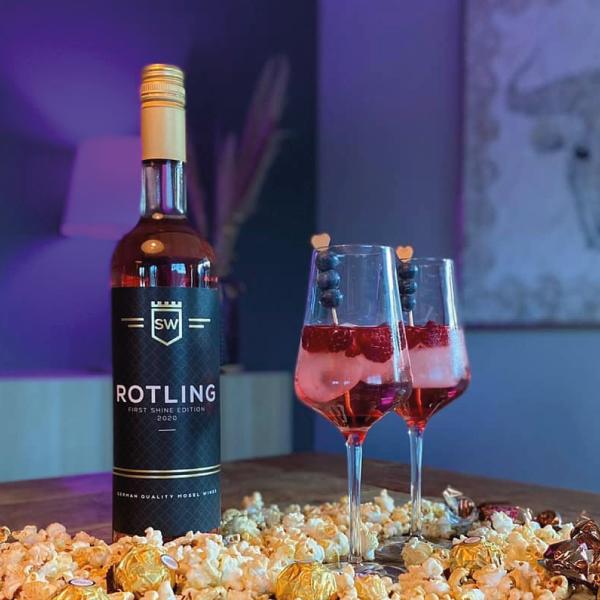 ROTLING het alternatief voor ROSE FRIS en FRUITGE MIX van ROOD en WITTE Druiven iedeal voor terrasweer en in de horeca